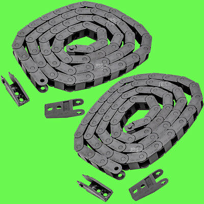 [2 Pcs] Energy Chain 7 x 7mm 7x7 1m R18 Cable Routing Carriers 3D Canal