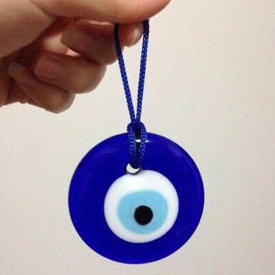 Turkish Glass Evil Eye Lucky Wall Decor Car/Home Amulets Hanging Ornament Blue