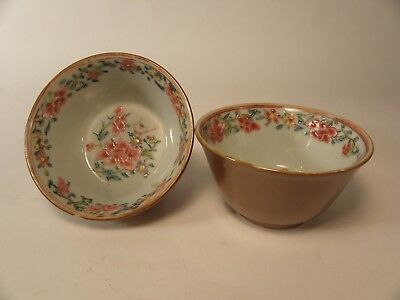Two Chinese Porcelain Batavia Cups