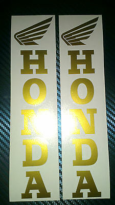 2 X Honda Motorbike Fork Stickers Decals / Any Colour