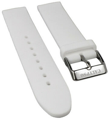 Calypso Watches Spare Band Silicone White Soft Smooth 18mm for Model K5733/1