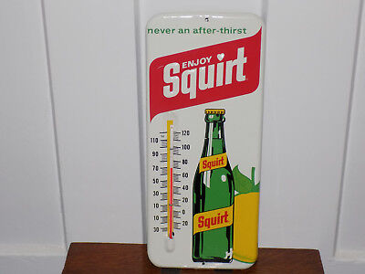 Enjoy Squirt Metal Embossed Thermometer 1971