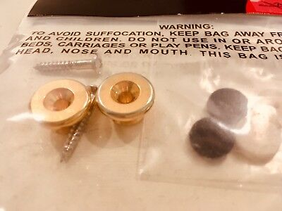 Original Fender Custom Shop Relic Bass Strap Buttons Vintage Aged Gold