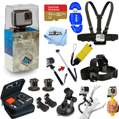 GoPro HERO7 HERO 7 White All In 1 PRO ACCESSORY KIT with 32GB Micro SD + MORE
