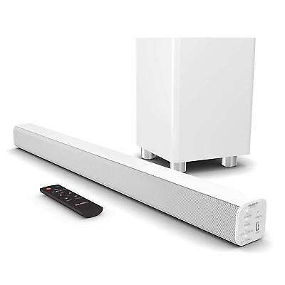 Majority 150W TV Sound Bar Wireless Subwoofer with Bluetooth Optical Audio