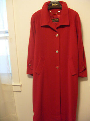 Womens Red Cashmere Coat by St John Collection-by-Marie Gray