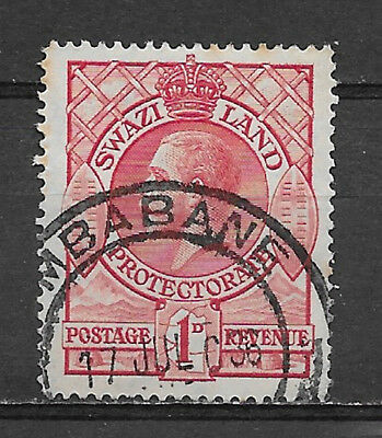 SWAZILAND , 1933 , GEORGE V , 1p  STAMP , PERF , USED
