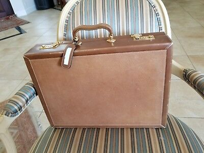 Vintage Dunhill Leather  Briefcase with travel humidor inbuilt Very Rare
