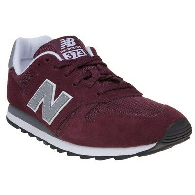huge discount 16531 3ad86 New Mens New Balance Maroon 373 Nylon Trainers Retro Lace Up