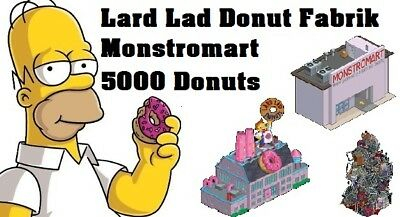 Simpsons Tapped out - Lard Lad Donut Factory + Monstromat  + 5000 Donuts