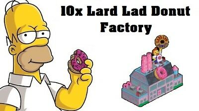Simpsons Tapped out - 10x Lard Lad Donut Factory -Never worry about donuts again
