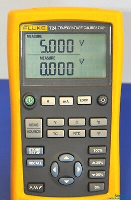 Fluke 724 Temperature Calibrator - NIST Calibrated with Leads and Warranty
