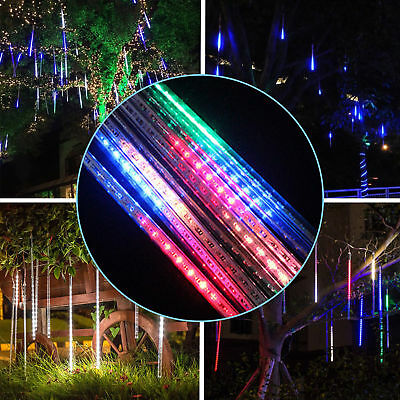 144 LED Meteor Shower Falling Rain Drop Icicle Snow Xmas String Light Outdoor US
