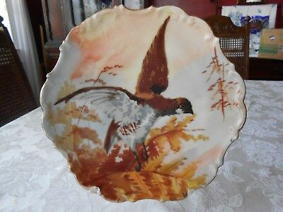 HAND PAINTED & SIGNED LIMOGES PLATE SIGNED L---- FLAMBEAU Birds FRANCE