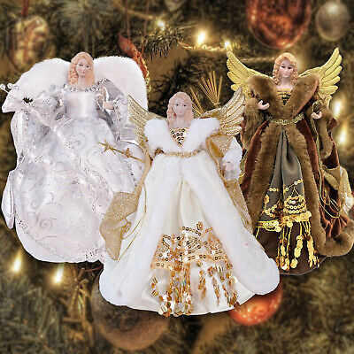 Christmas Tree Topper Traditional Fairy Angel Xmas Tree Top Ornament Decoration