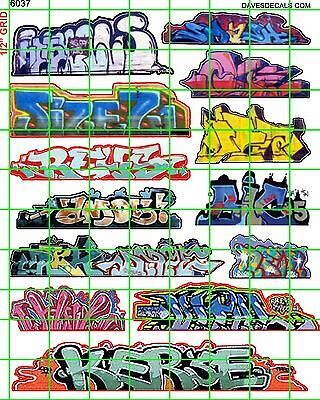 6037 Dave's Decal Ho Scale Decals Urban Graffiti Train Boxcars Street City Walls