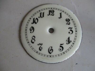 400 DAY VINTAGE ENAMEL CLOCK DIAL 76mm ROUND  SPARE PART
