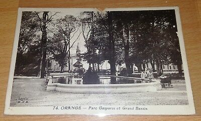 Cpa / 84 / Orange / Parc Gasparin  / Flamme Daguin 1920