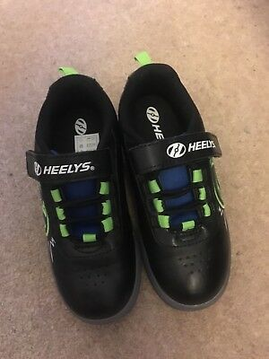 Boys Heelys - UK Size 13 Black & Green Excellent Condition. Worn once with box