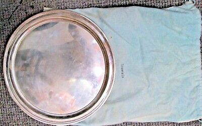 Vintage Tiffany & Co. CBS Broadcasting Sterling Silver Presented Plate Platter