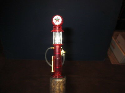 Mw.a47: Unusual Texaco Visible Gas Pump Top On Ash Gadget Walking Stick Cane