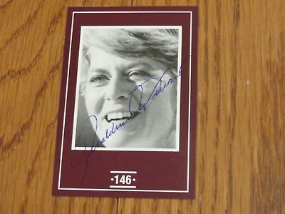 Geraldine Ferraro Autographed Card Hand Signed New York Vice President Candidate