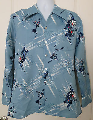 Paul Howard California Vintage 70's Button Down Long Sleeve Shirt Size Large