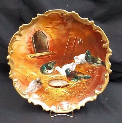 L.S. & S. Limoges France Hand Painted Birds Nesting Decorative Plate