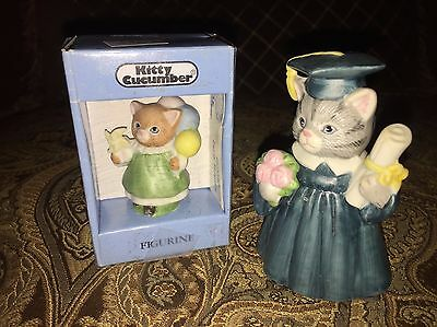 2 Kitty Cucumber Graduate & Party Surprise Cats 1987 & 1990