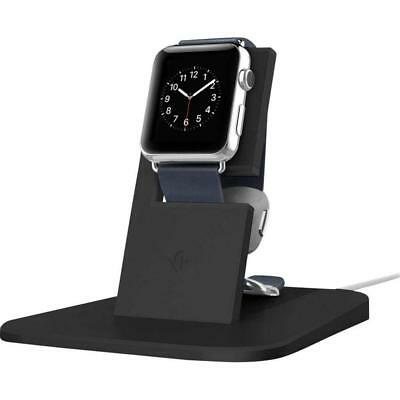 Twelve South HiRise Stand for Apple Watch, Black | Metal Charging Dock