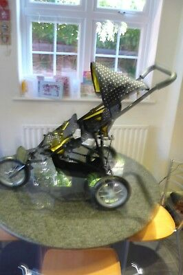 Mamas & Papas Toy 3 Wheel Jogger Twin Pushchair In Superb Condition