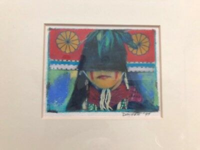 Native American Marian Denipah Navajo Mixed Media Framed Print Butterfly Maiden