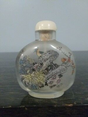 antique Hand Painted Inside Chinese Snuff Bottle