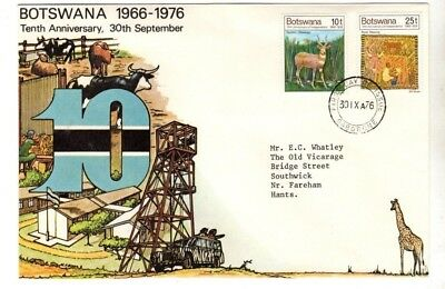 1976 Botswana - Tenth Anniversary Fdc From Collection M22