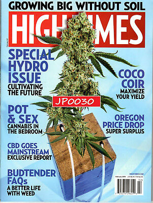 High Times February 2019, Special Hydro Issue, Brand New/Sealed