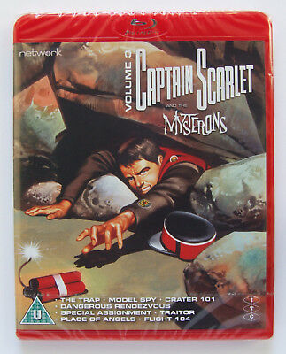 Gerry Anderson: Captain Scarlet Volume 3 Blu-ray DVD (Network 2018) NEW/SEALED