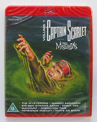 Gerry Anderson: Captain Scarlet Volume 1 Blu-ray DVD (Network 2018) NEW/SEALED