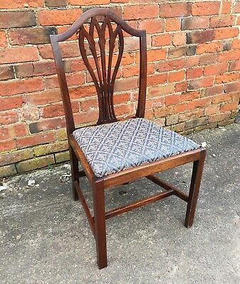 Antique Georgian Mahogany Dining Chair (Chippendale Style Regency Hall Chair)