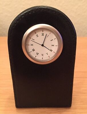 Small Marks & Spencer Leather Mantle Clock