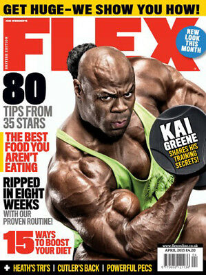 Flex Bodybuilding Magazine April 2015 Kai Greene New & Sealed