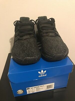 Adidas NMD EQT Support Triple Black Deadstock 93/17