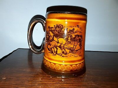 Ridgway Tankard. Scenes From Coaching Days and Coaching Ways. Mug. Horses .