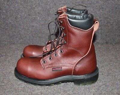 f31d626e08a MEN'S RED WING 2408 Brown Leather Steel Toe Work Boots Sz 8 D Made In Usa  $255