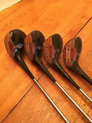 Vintage Matched Set 4 MacGregor M75W Tourney Super Eye O Matic Driver 2 3 4 Wood