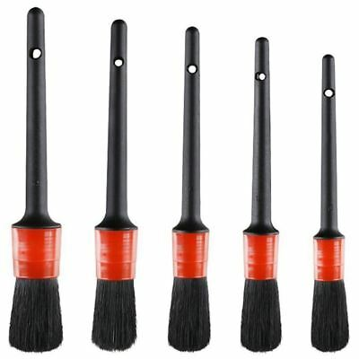 Detail Brush (Set of 5), Auto Detailing Brush Set Perfect for Car Motorcycle  G6