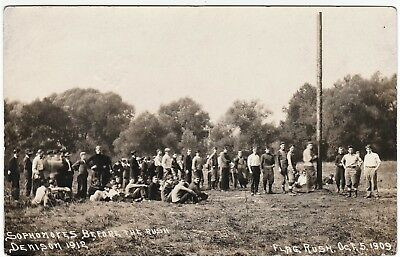 RARE Real Photo Postcard - Denison University Granville OH 1909 Football Game