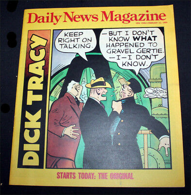 21 copies of DAILY NEWS MAGAZINE from 1990 with ORIGINAL DICK TRACY strips EX!