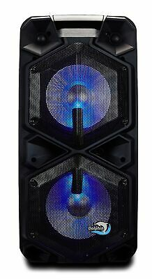 "Dolphin SP-211RBT Rechargeable PA Party Speaker System Dual 10"" 3400 Watt"