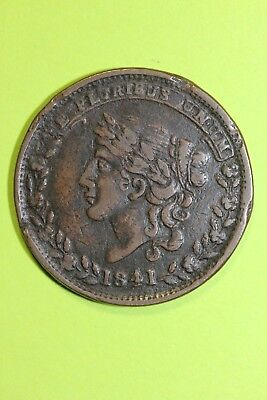 1837 Hard Times Token May 10th Special Payments Suspended Lady Liberty OCE 031