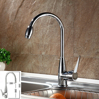 Chrome Hot/Cold Mixer Water Tap Basin Kitchen Bath Wash Basin Faucet with Hose